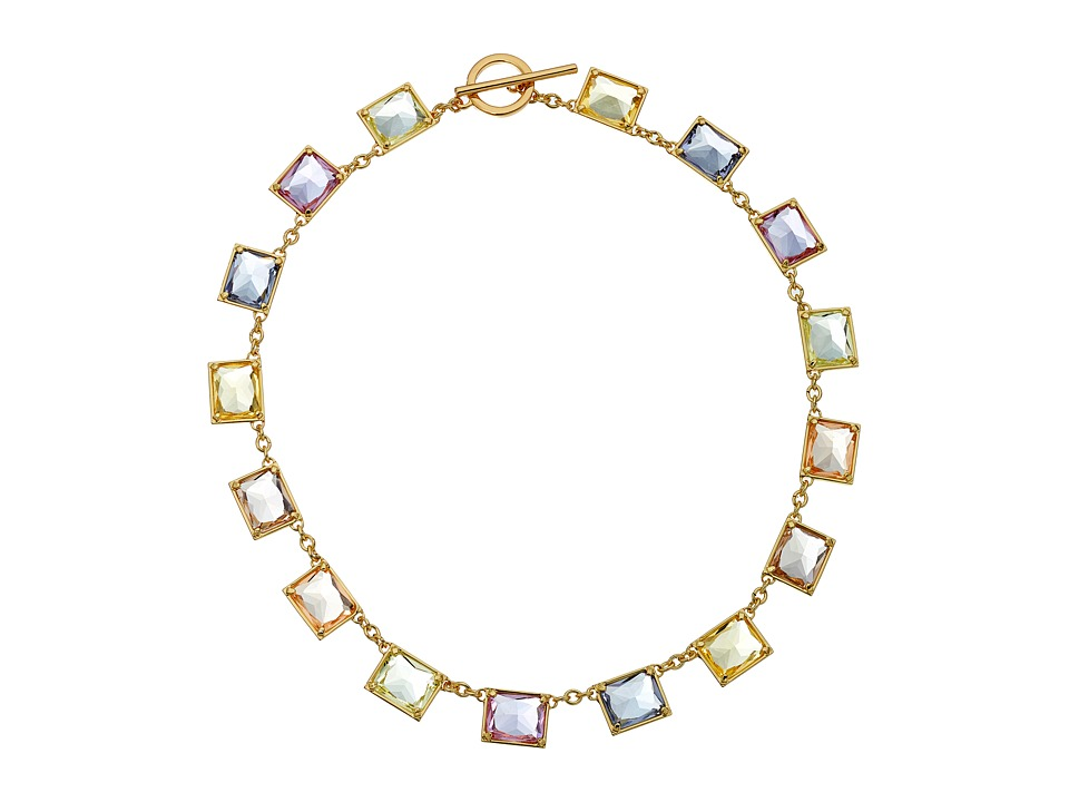 LAUREN Ralph Lauren - Pearls Rock 16 Faceted Stone Necklace (Multi/Gold) Necklace
