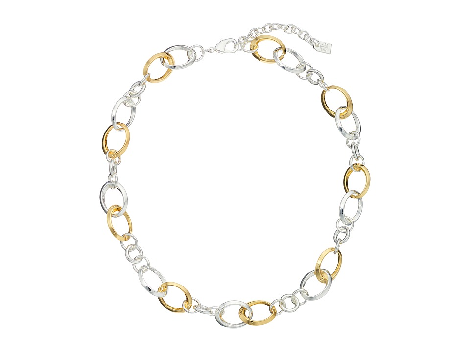 LAUREN Ralph Lauren - Luxe Links 18 Knife Edge Link Necklace (Two-Tone) Necklace