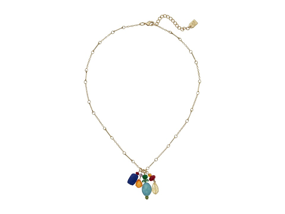 LAUREN Ralph Lauren - Fantastic Voyage 18 Multi Bead Pendant Necklace (Multi/Gold) Necklace