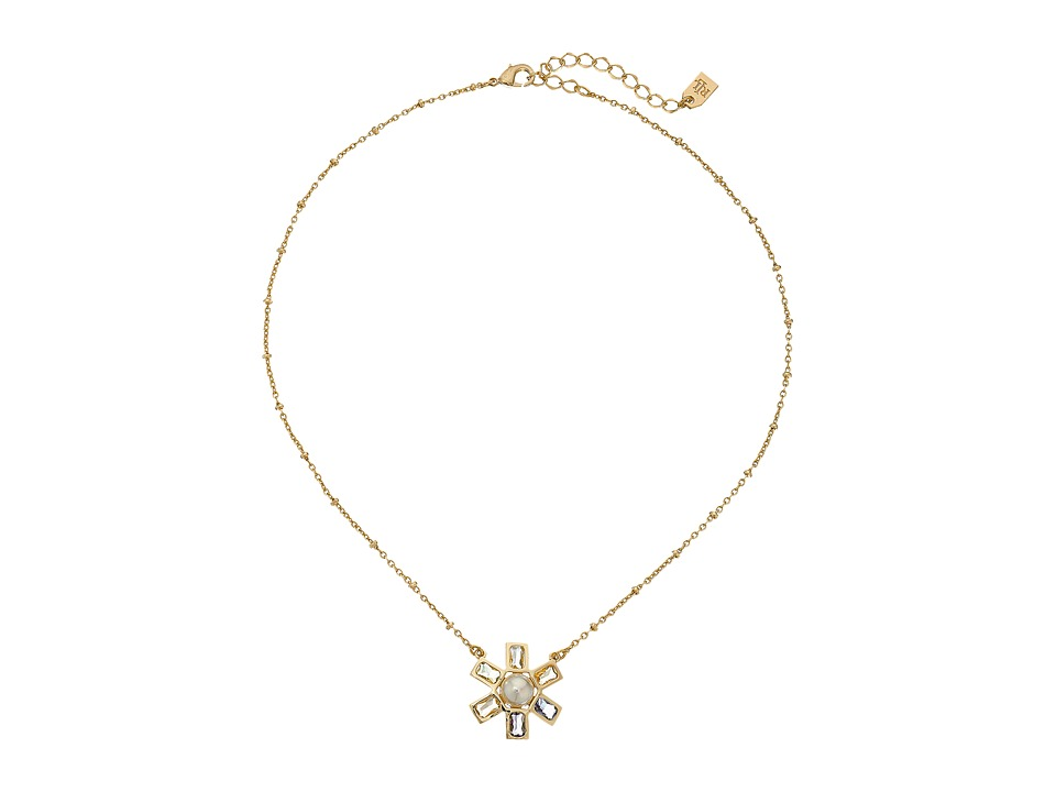 LAUREN Ralph Lauren - Pearls Rock 16 Faceted Stone Flower Pendant Necklace (Multi/Gold) Necklace