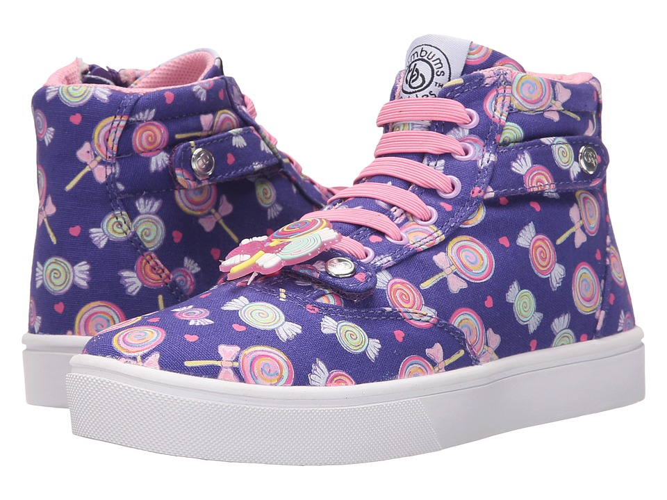 Bumbums & Baubles - Brooklyn (Toddler/Little Kid/Big Kid) (Violet/Candy Print) Girls Shoes
