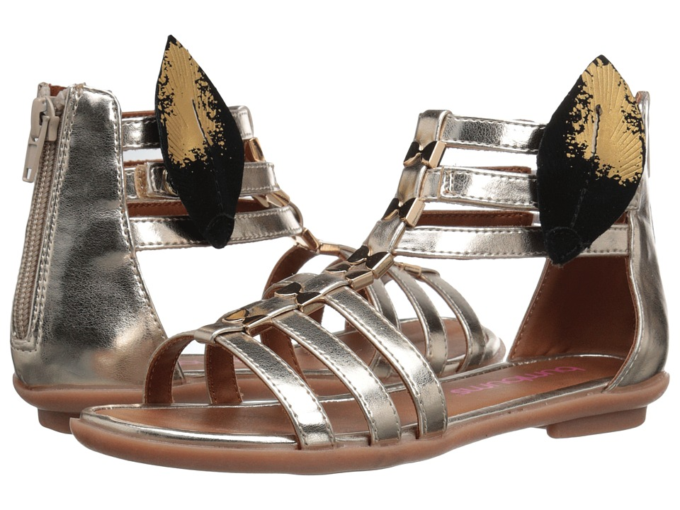 Bumbums & Baubles - Athena (Toddler/Little Kid/Big Kid) (Gold) Girls Shoes