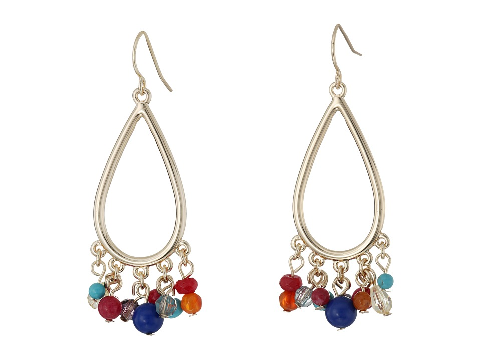 LAUREN Ralph Lauren - Fantastic Voyage Teardrop Gypsy Multi Bead Earrings (Multi/Gold) Earring