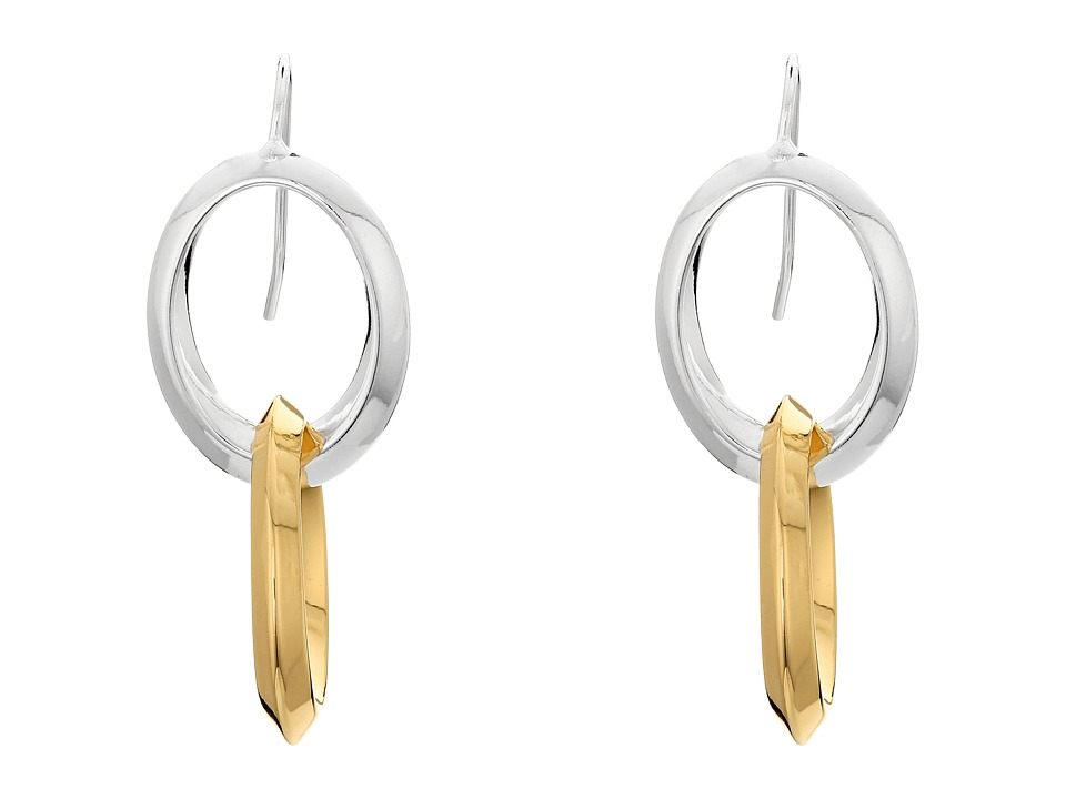 LAUREN Ralph Lauren - Luxe Links Knife Edge Double Drop Earrings (Two-Tone) Earring