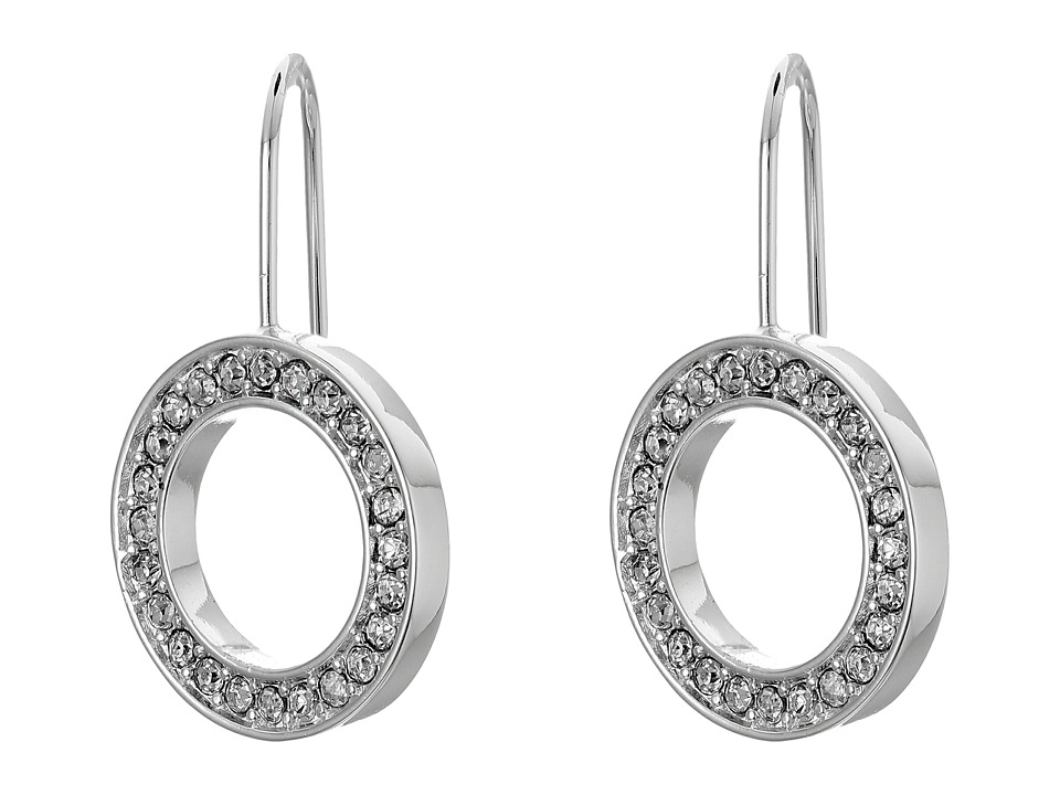 LAUREN Ralph Lauren - Ear Candy Round Crystal Drop Earrings (Crystal/Silver) Earring