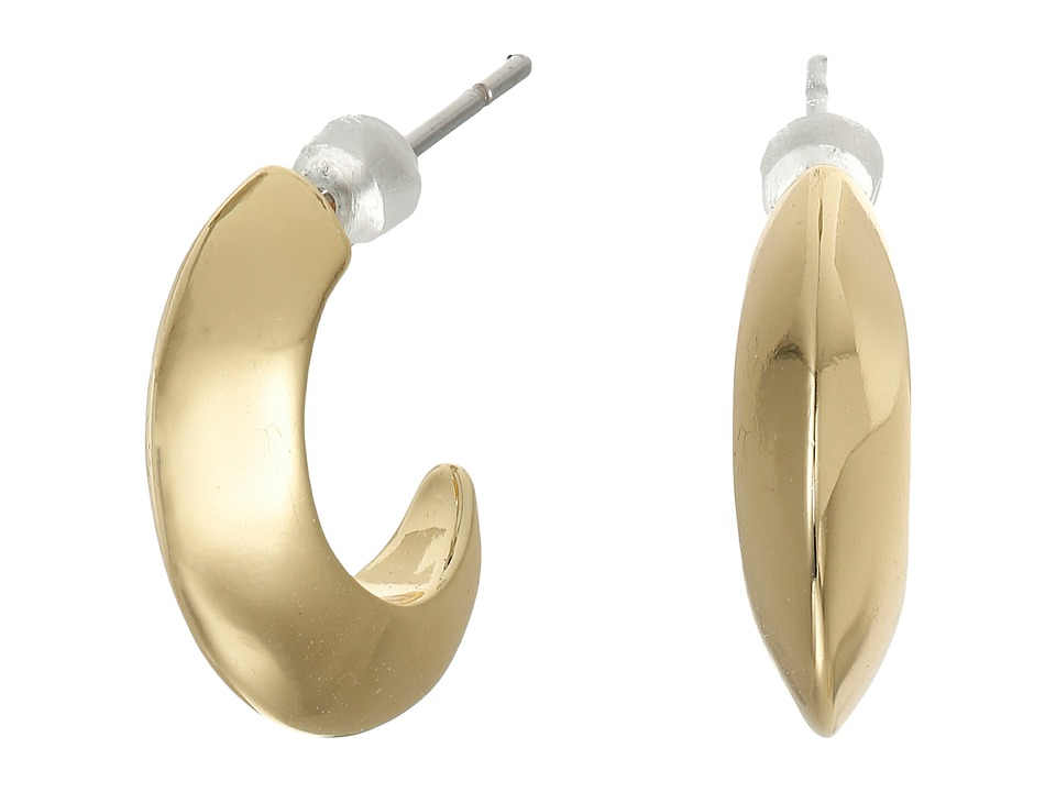 LAUREN Ralph Lauren - Luxe Links Small Knife Edge Hoop Earrings (Gold) Earring