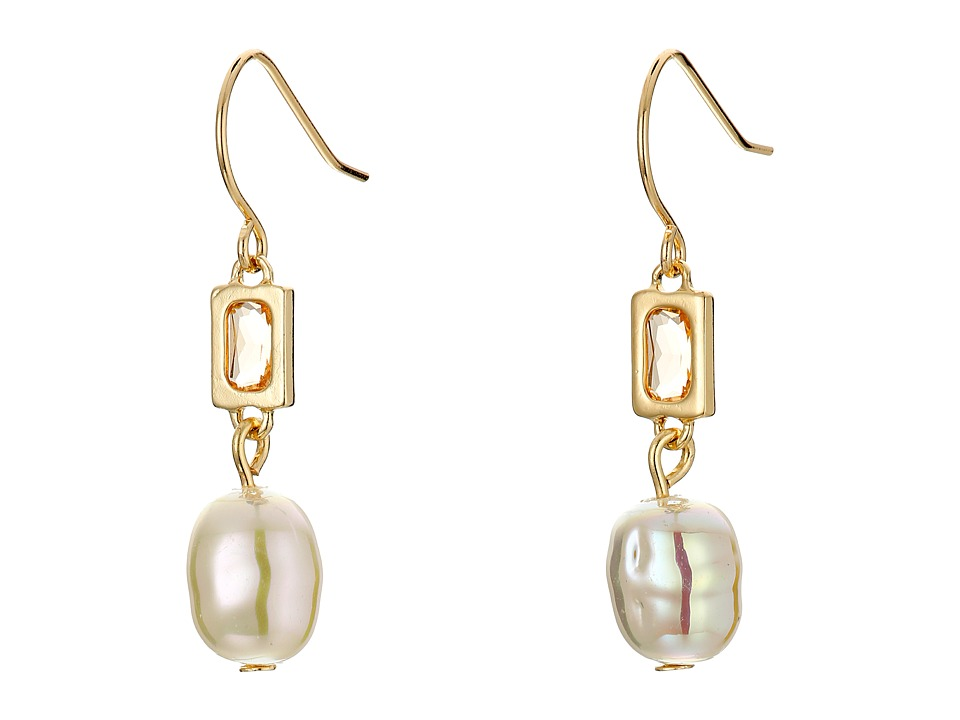 LAUREN Ralph Lauren - Pearls Rock Organic Pearl Stone Drop Earrings (Pink/Gold) Earring