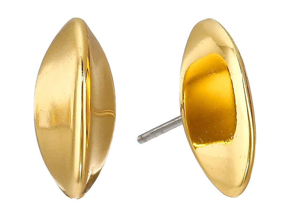 LAUREN Ralph Lauren - Luxe Links Small Knife Edge Stud Earrings (Gold) Earring