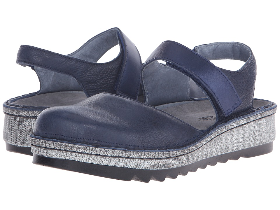 Naot Footwear - Lantana (Ink Leather/Polar Sea Leather) Women's Sandals