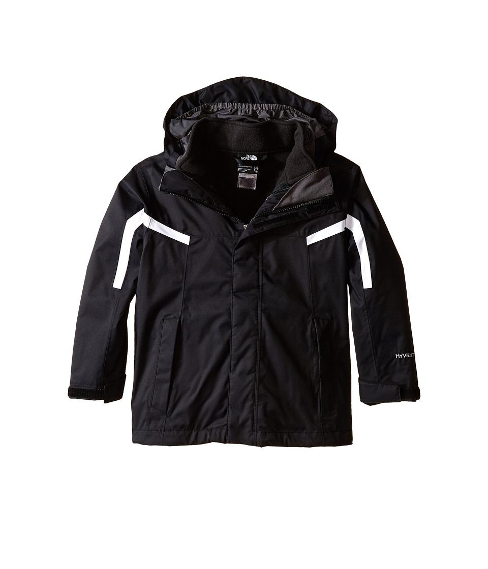 The North Face Kids - Nimbo Triclimate Jacket (Little Kids/Big Kids) (TNF Black/TNF White) Boy