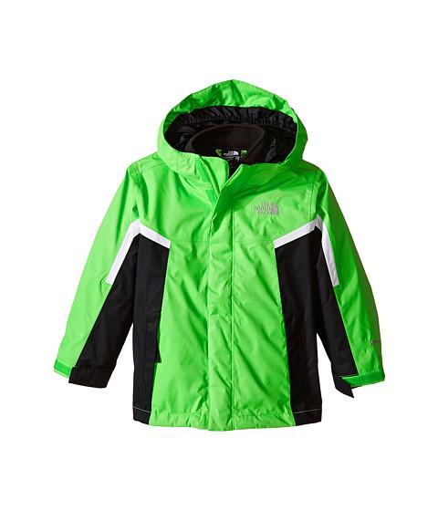 The North Face Kids - Nimbo Triclimate Jacket (Little Kids/Big Kids) (Krypton Green/TNF Black/TNF White) Boy
