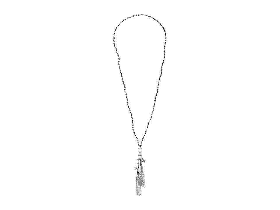 Chan Luu - 32 Coated Silver Tassle Necklace (Coated Silver) Necklace