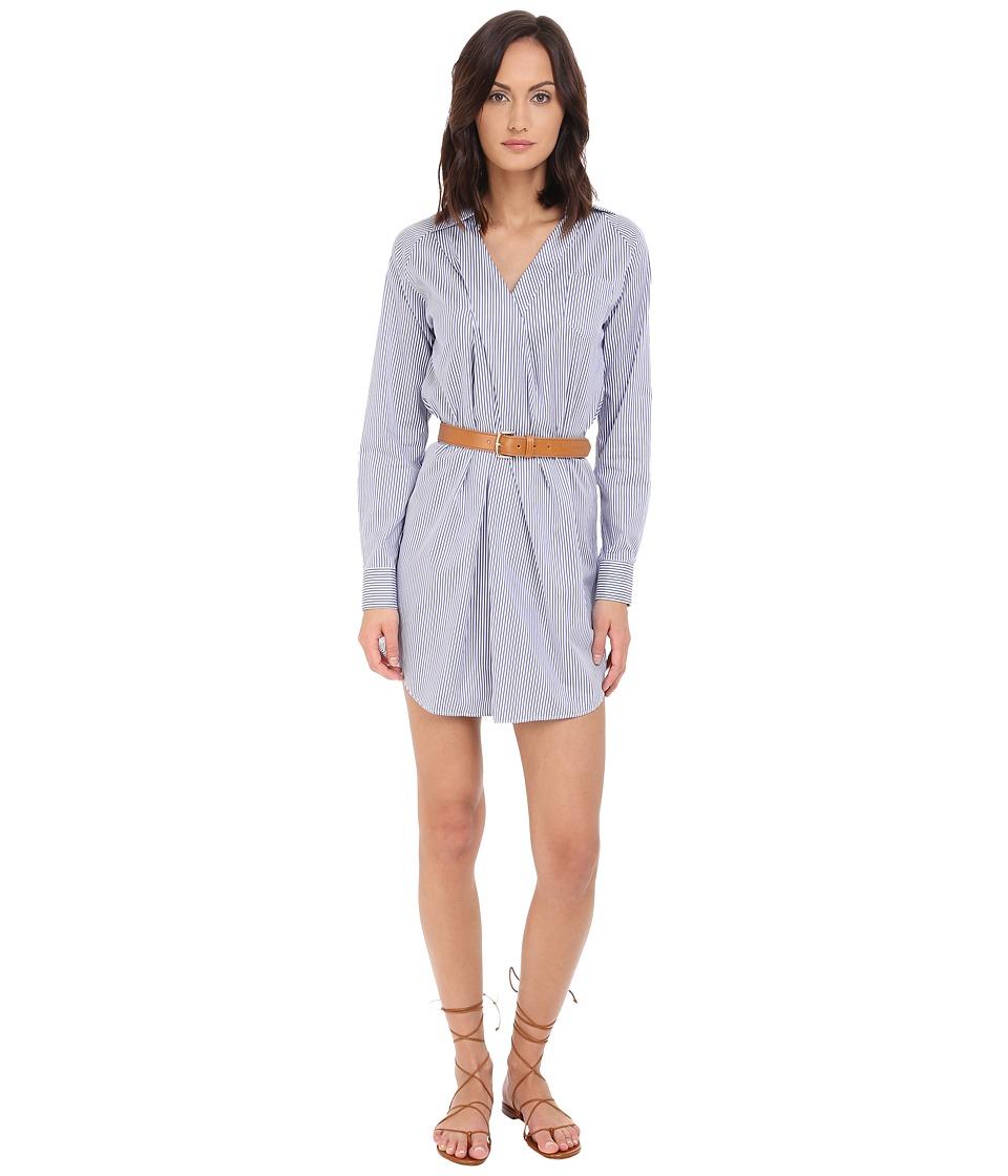 DSQUARED2 - Stacey Shirt Dress (White/Blue) Women's Dress