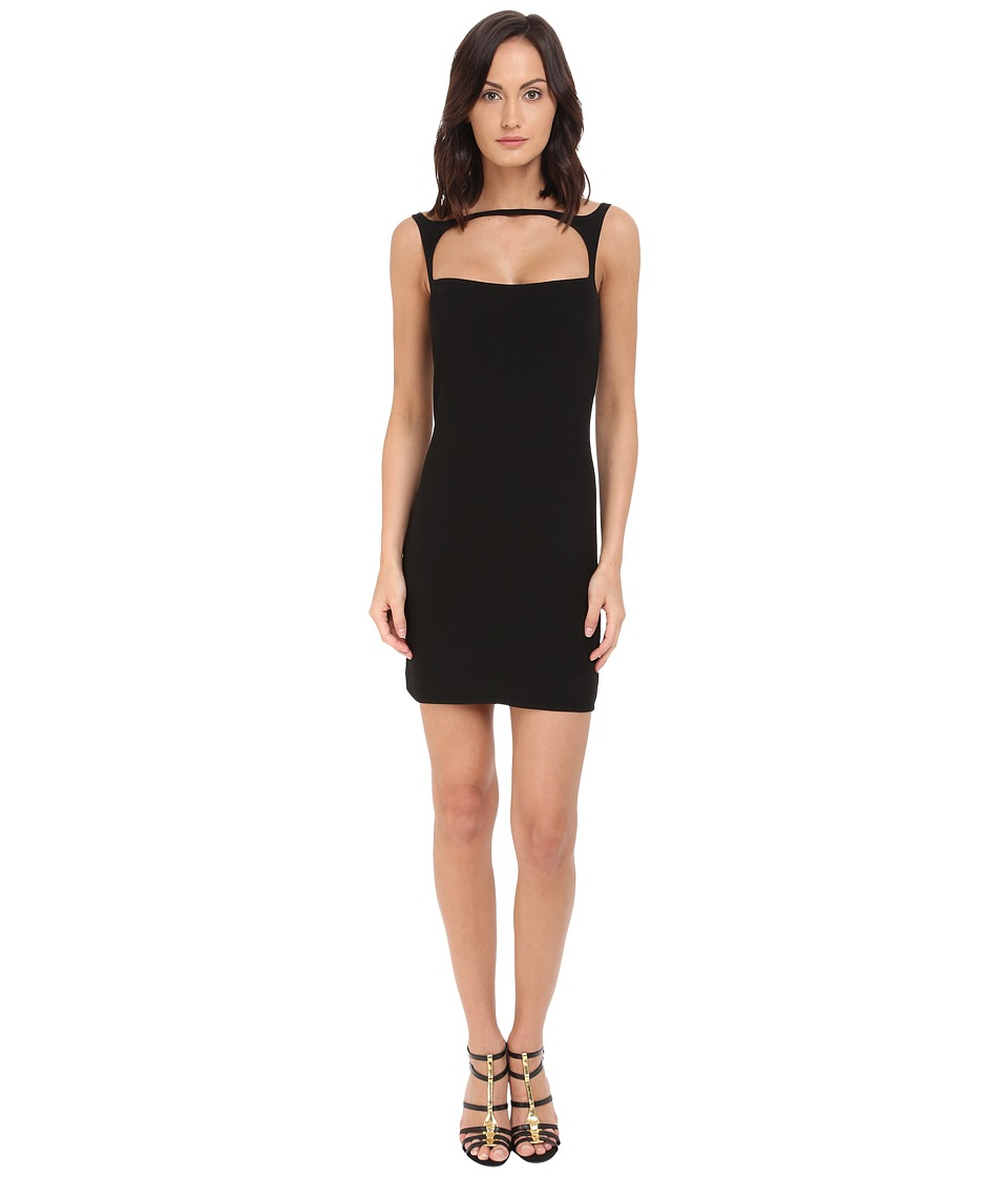 DSQUARED2 - Micro Piquet Compact Shift Dress (Black) Women's Dress