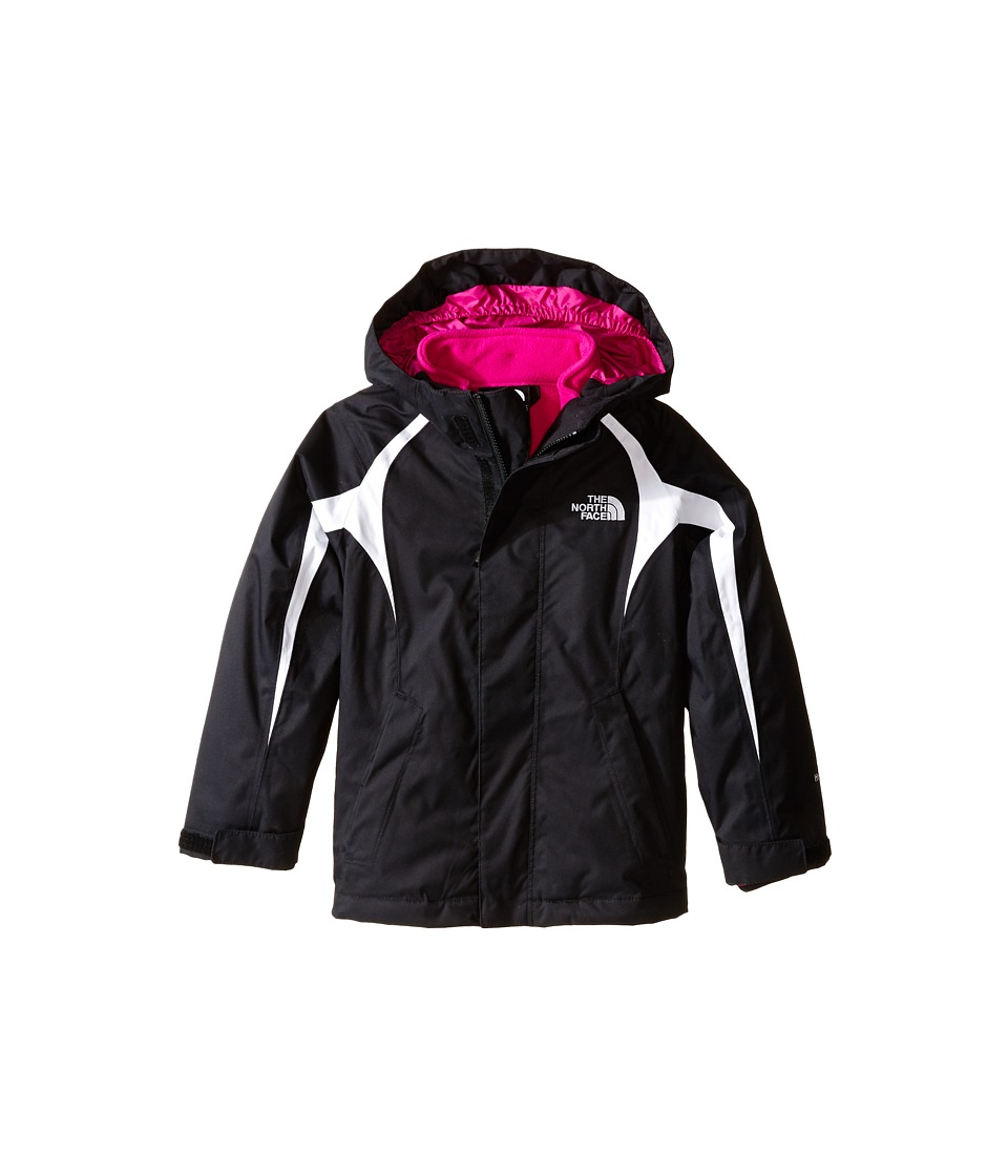 The North Face Kids - Mountain Triclimate Jacket (Little Kids/Big Kids) (TNF Black/TNF White/Luminous Pink) Girl's Coat