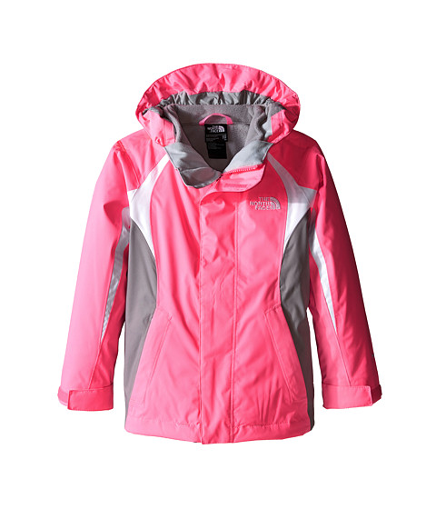 The North Face Kids - Mountain Triclimate Jacket (Little Kids/Big Kids) (Gem Pink/TNF White/Metallic Silver) Girl