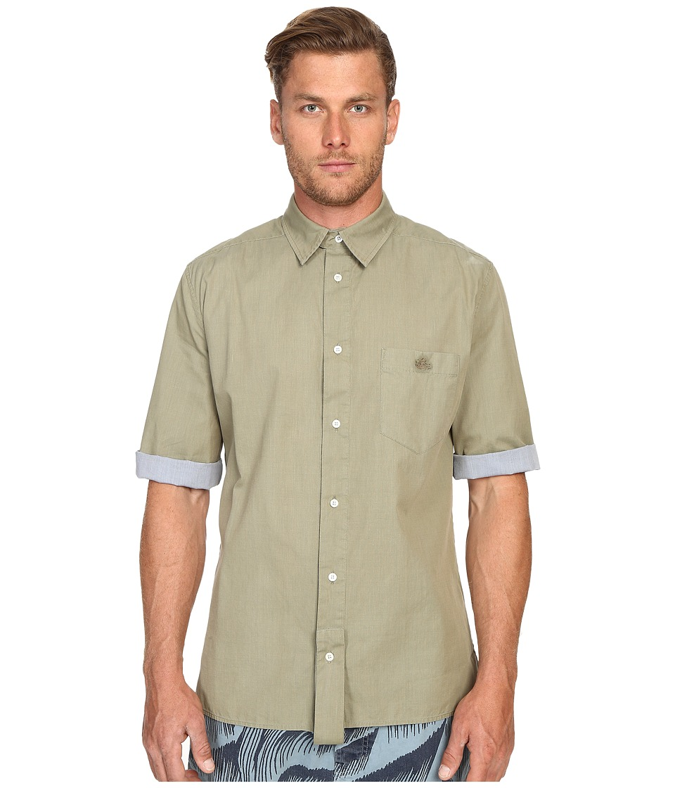 Vivienne Westwood - Anglomania Paul Shirt (Green/Turquoise) Men's Short Sleeve Button Up