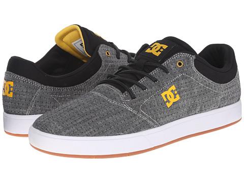 DC - Crisis TX SE (Grey/Yellow) Men's Skate Shoes
