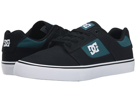 DC - Bridge TX (Black/Forest Green) Men's Skate Shoes