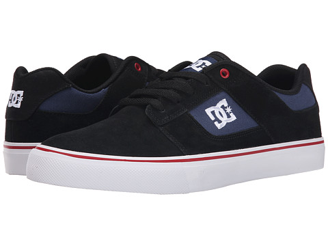 DC - Bridge (Black/Black/Red) Men's Skate Shoes