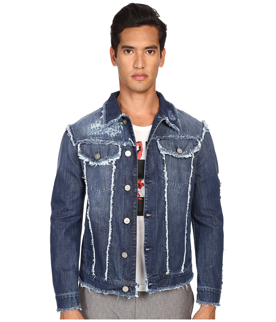 Vivienne Westwood - Anglomania Classic Fringed Jacket (Blue Denim) Men's Coat