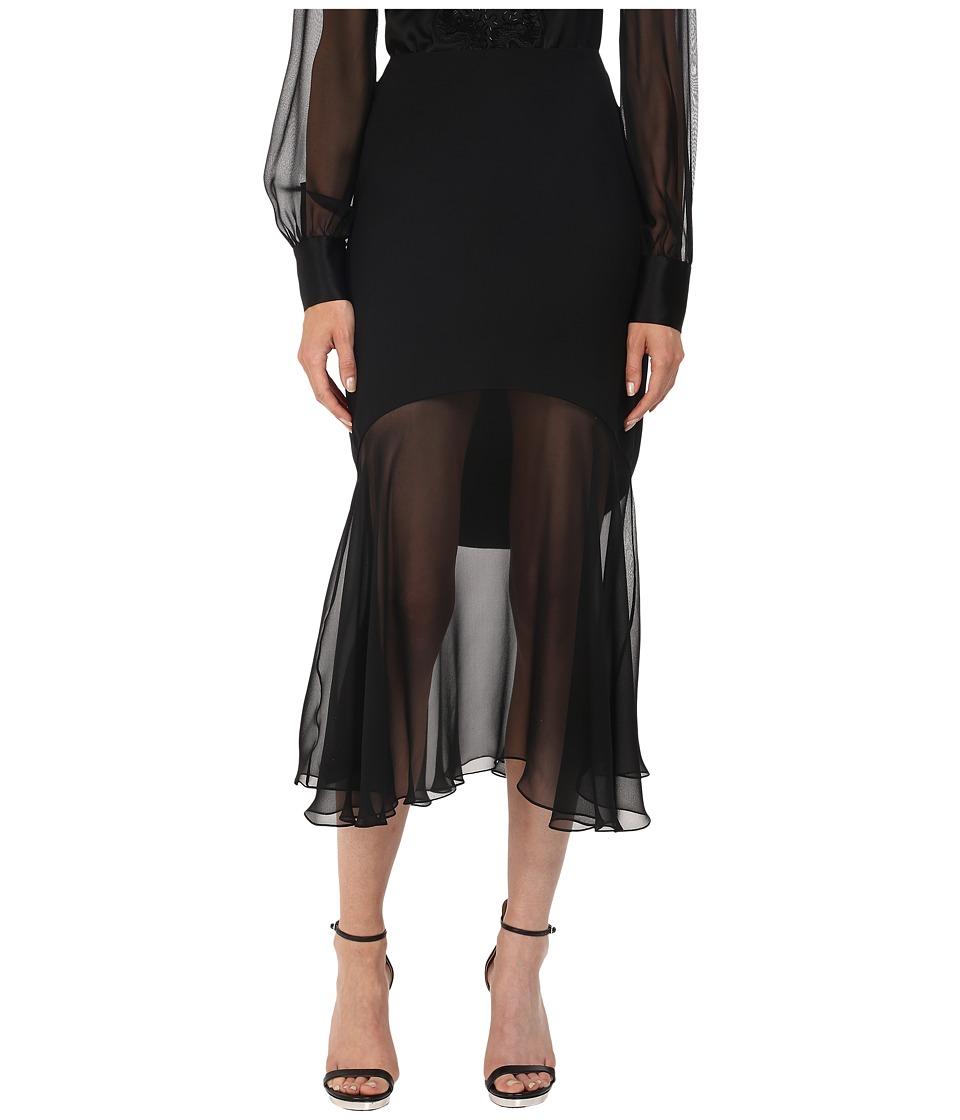 Prabal Gurung - Charmeuse Illusion Skirt (Black) Women's Skirt