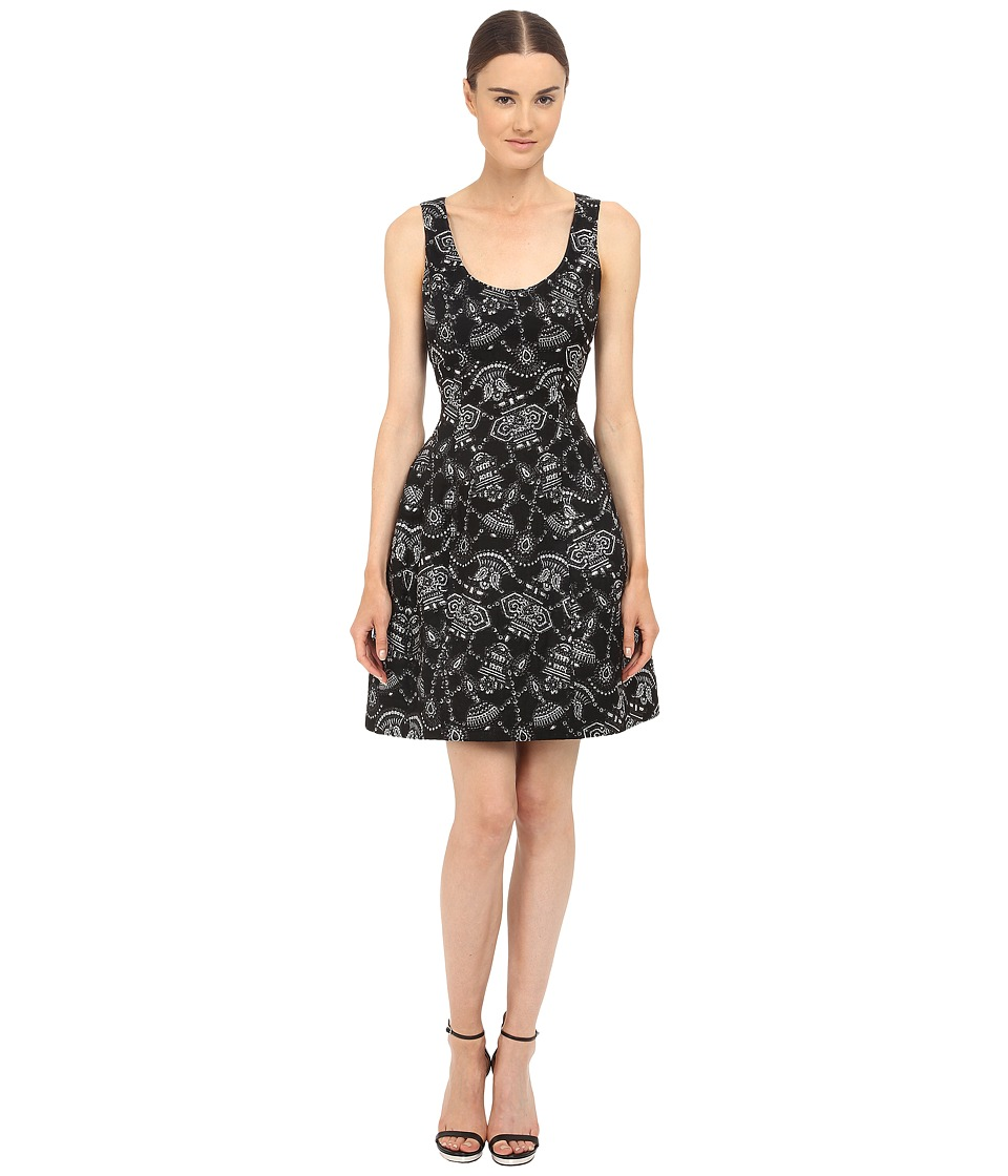 Prabal Gurung - Lurex Jacquard Sleeveless Dress (Black/Silver) Women's Dress