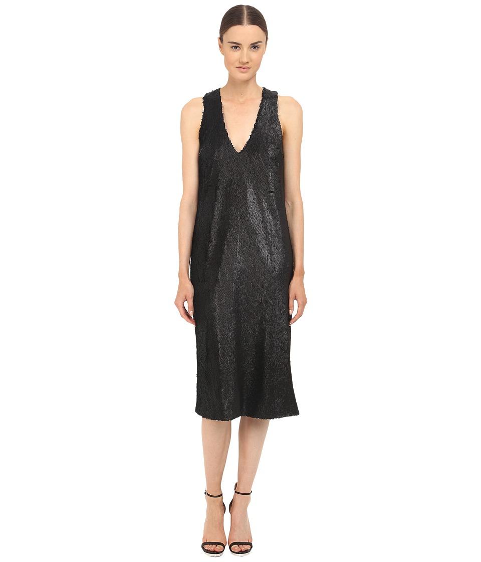 Prabal Gurung Dusted Paillette Sleeveless Dress (Black) Women