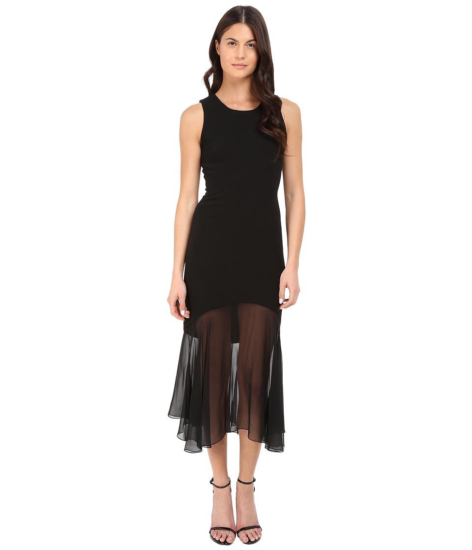 Prabal Gurung Crepe Illusion Sleeveless Dress (Black) Women