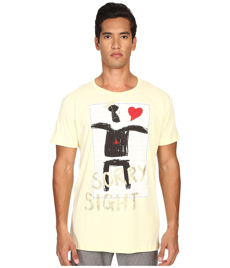 Vivienne Westwood - King Heart T-Shirt (Yellow) Men's T Shirt