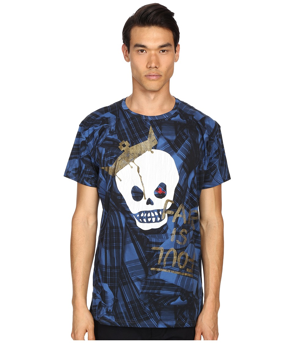 Vivienne Westwood - King Skull Tartan T-Shirt (Green Tartan) Men