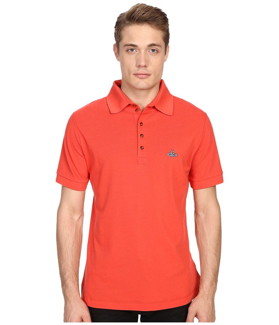 Vivienne Westwood - Basic Pique Classic Polo (Red) Men's Short Sleeve Knit