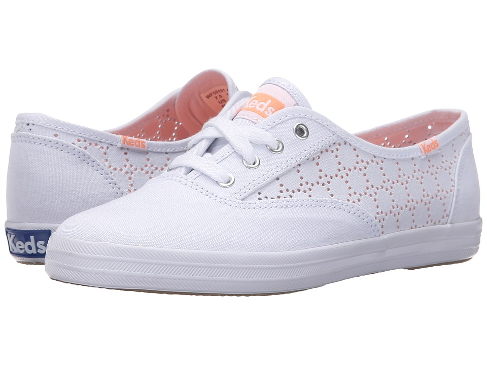 Keds Champion Perf (White Canvas) Women