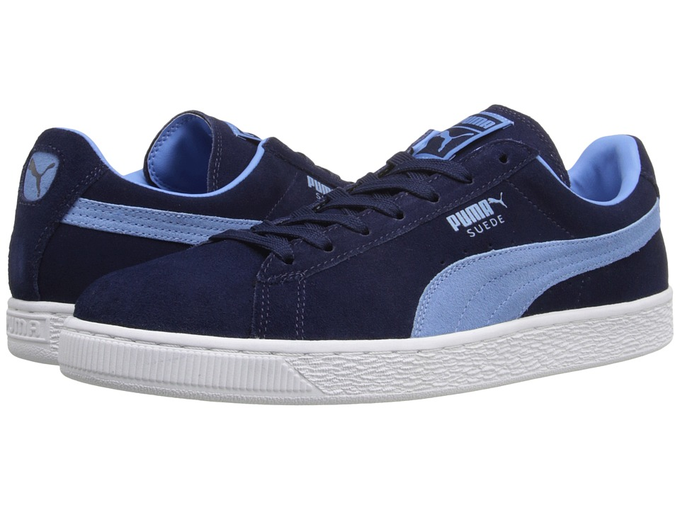 PUMA - Suede Classic + (Peacoat/Team Pearl Blue) Men's Shoes