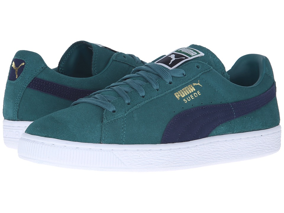 PUMA - Suede Classic + (Storm/Peacoat/White) Men's Shoes