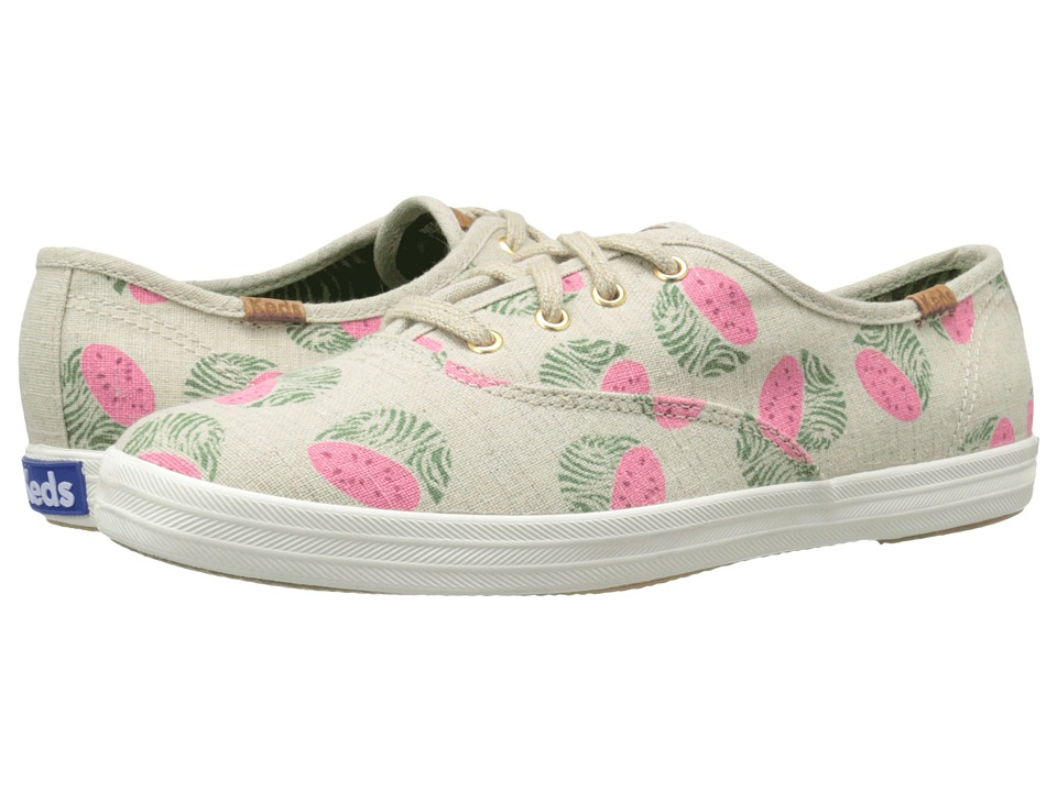 Keds Champion Fruity Animals (Natural Watermelon Linen) Women