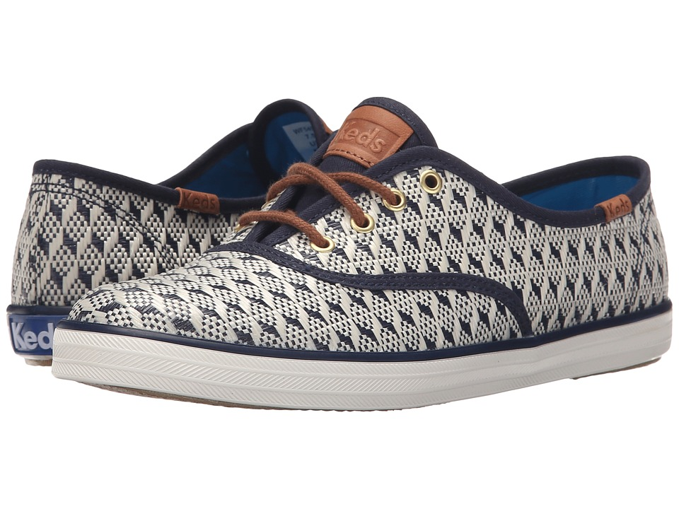 Keds - Champion Geo Raffia (Navy Geo Raffia) Women's Lace up casual Shoes