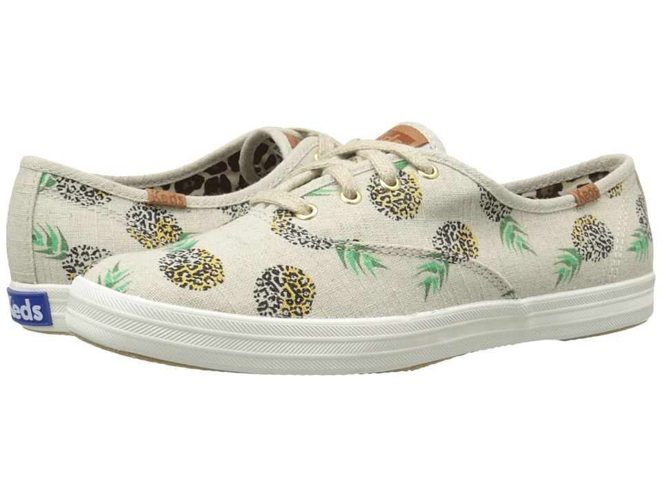 Keds Champion Fruity Animals (Natural Pineapple Linen) Women