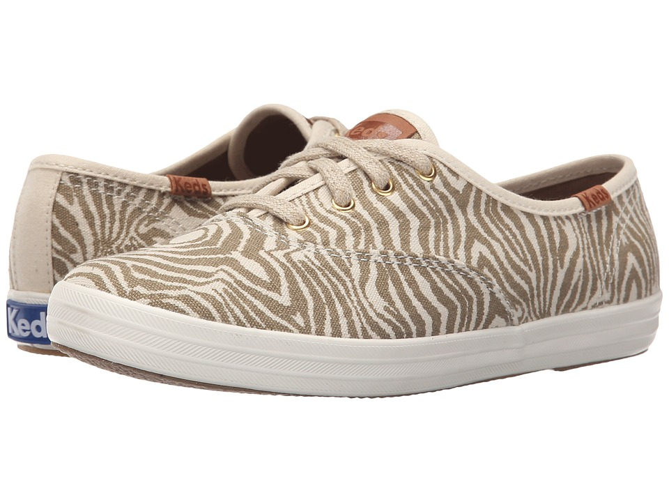 Keds - Champion Animal (Elmwood Zebra Linen) Women's Slip on Shoes