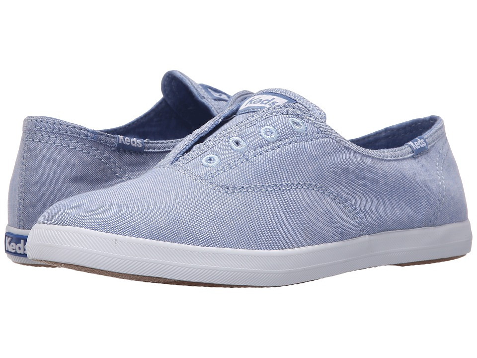 Keds - Chillax Chambray (Blue Chambray) Women's Slip on Shoes