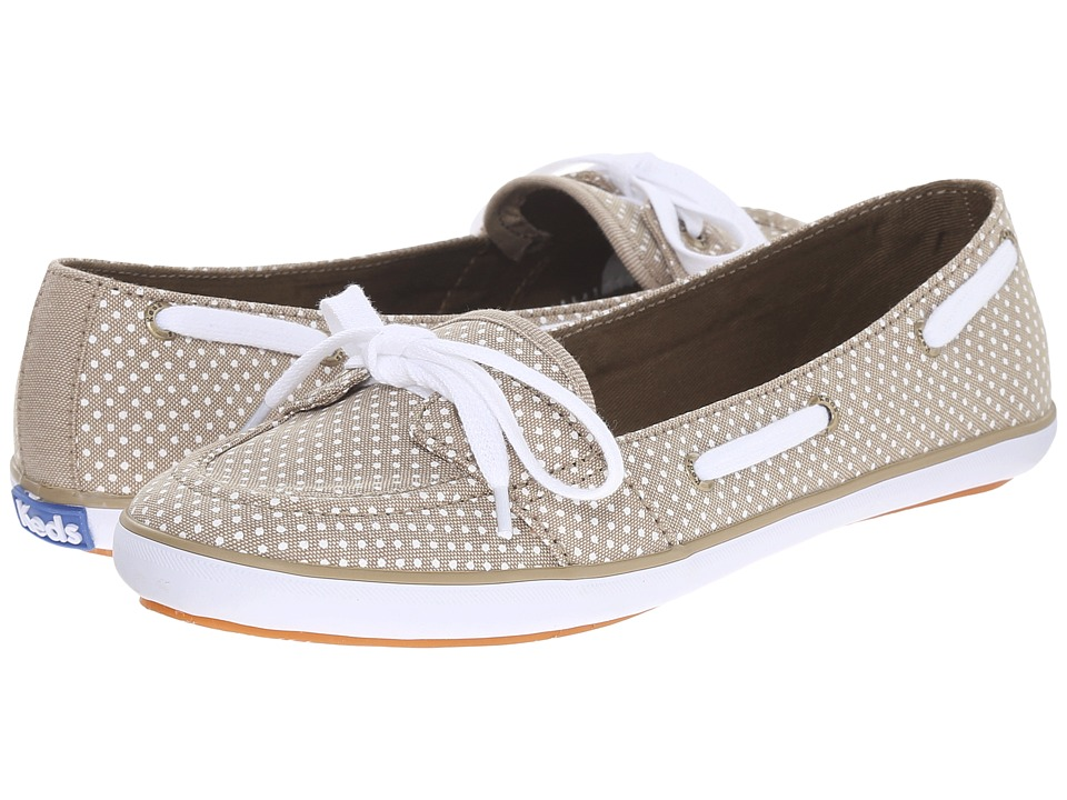 Keds - Teacup Boat Micro Dot (Olive Chambray) Women