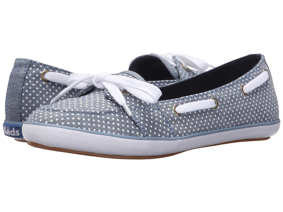 Keds - Teacup Boat Micro Dot (Blue Chambray) Women's Flat Shoes