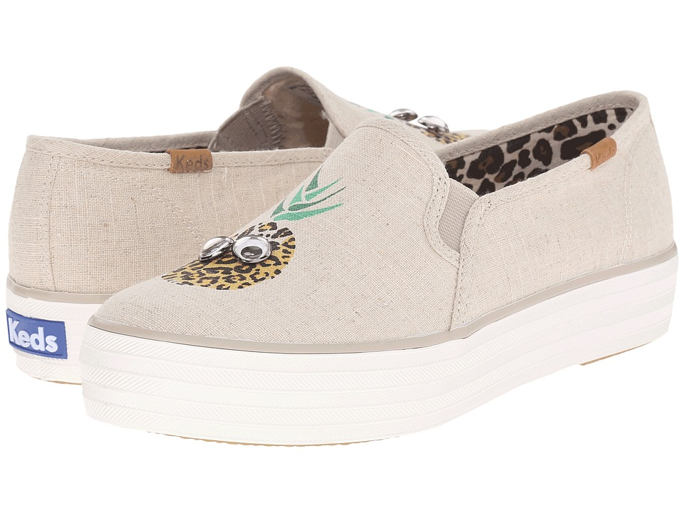 Keds - Triple Decker Googly Eyes (Natural Linen) Women's Slip on Shoes