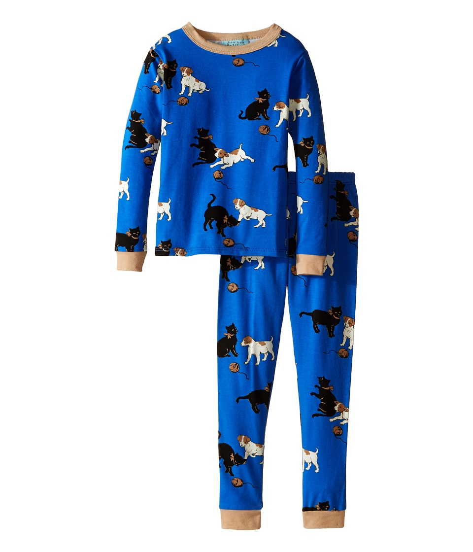 BedHead Kids - Long Sleeve Two-Piece PJ (Toddler/Little Kids) (Blue Cats/Dogs) Boy's Pajama Sets