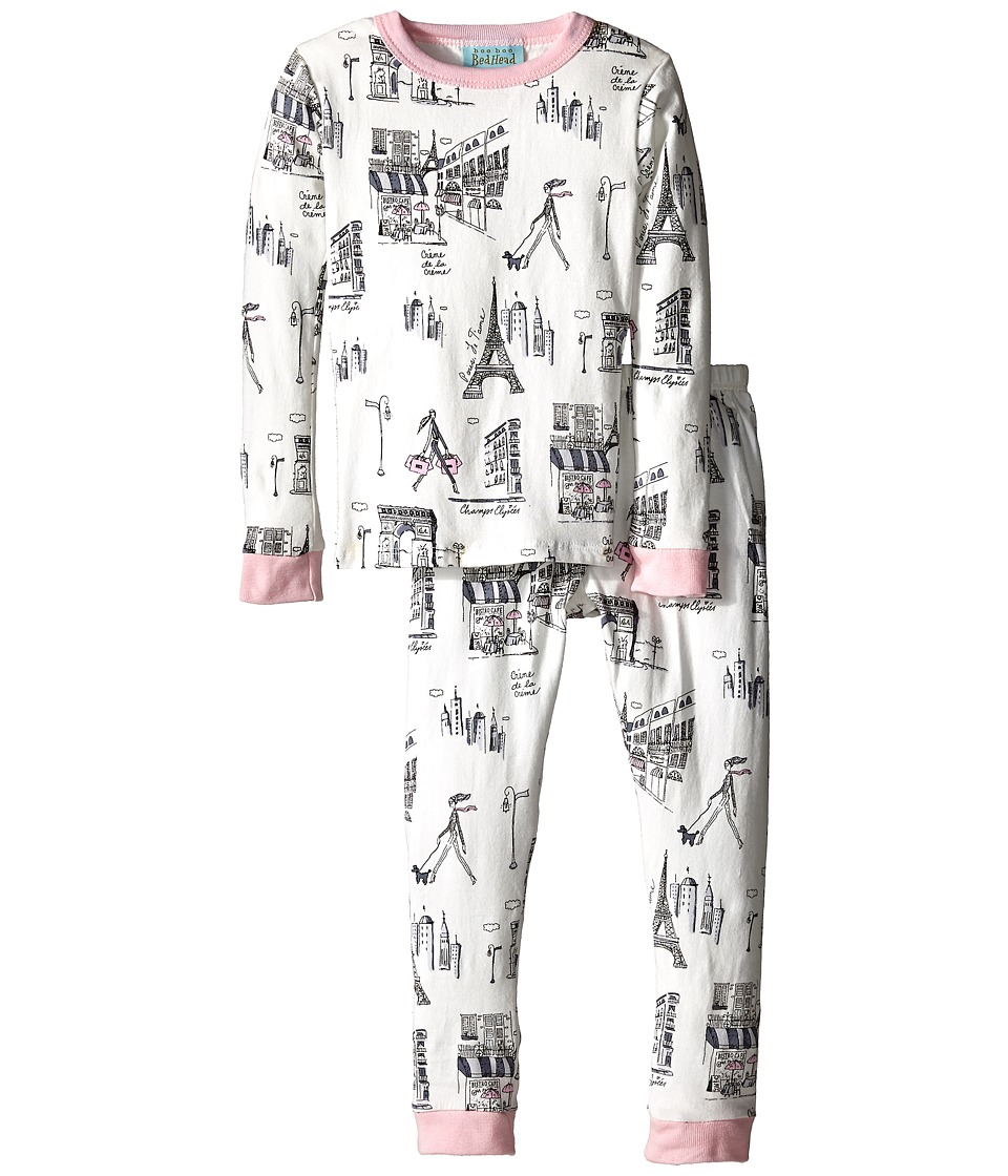 BedHead Kids - Snug Fit L/S Classic PJ (Toddler/Little Kids) (Cafe Du Paris) Girl's Pajama Sets