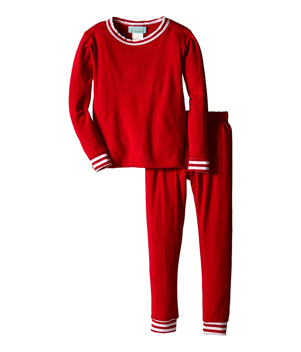 BedHead Kids - Snug Fit L/S Classic PJ (Toddler/Little Kids) (Solid Red) Girl's Pajama Sets