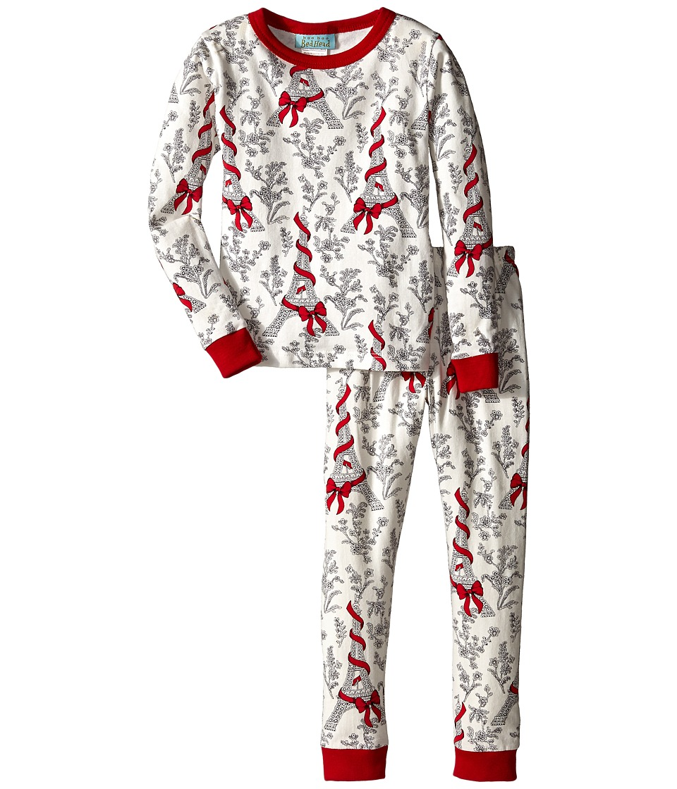 BedHead Kids - Snug Fit L/S Classic PJ (Toddler/Little Kids) (Bow Eiffel) Girl's Pajama Sets