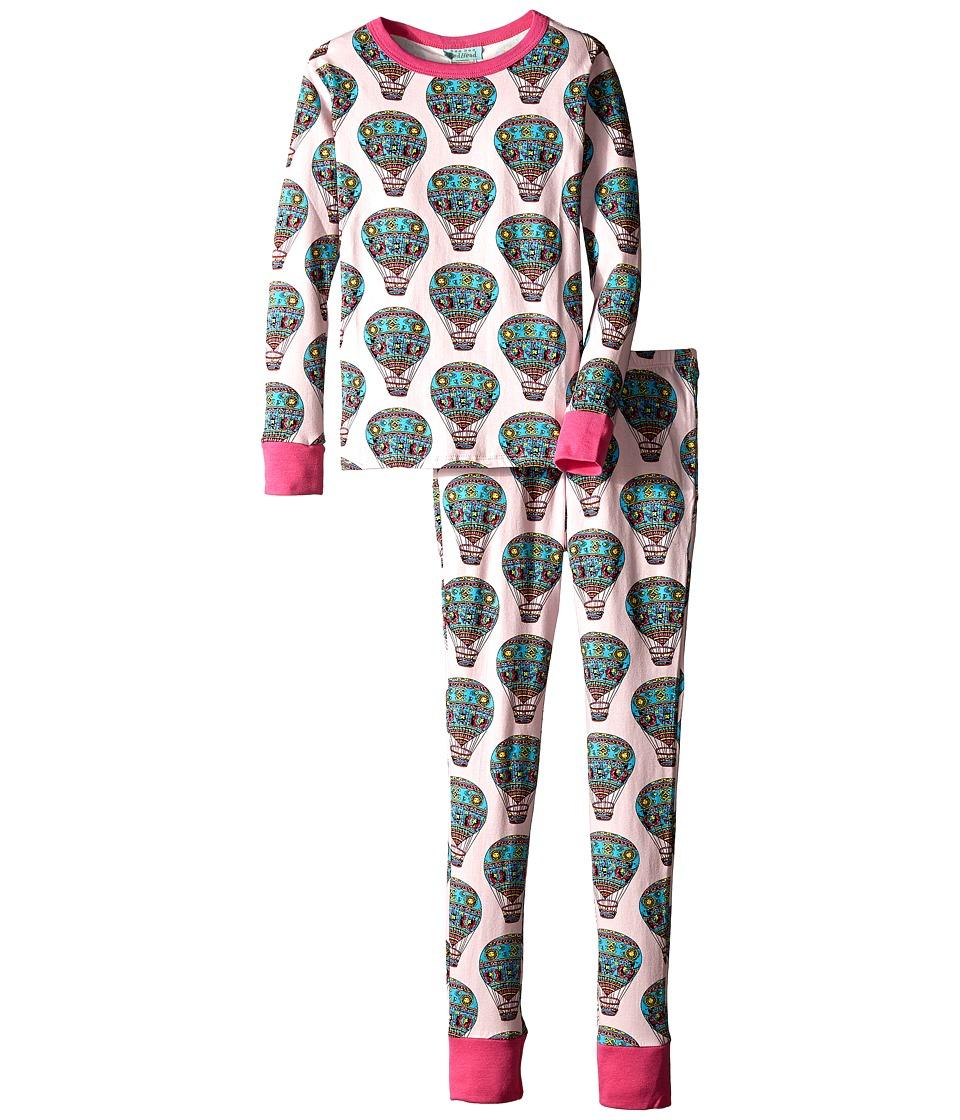 BedHead Kids - Snug Fit L/S Classic PJ (Big Kids) (Multi Hot Air Balloons) Girl's Pajama Sets