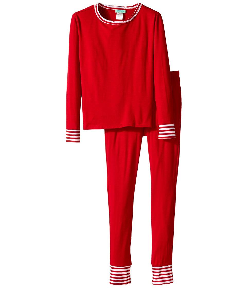 BedHead Kids - Snug Fit L/S Classic PJ (Big Kids) (Solid Red) Girl's Pajama Sets
