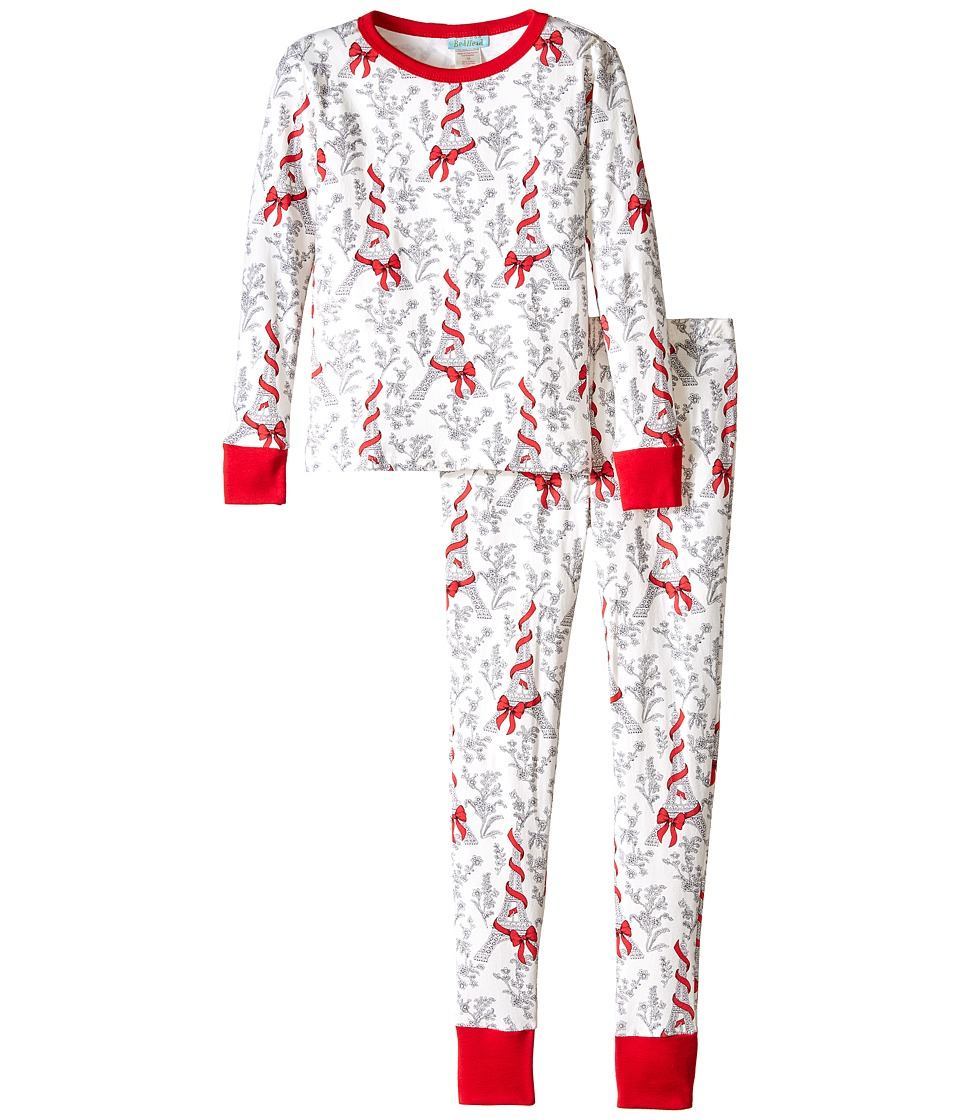 BedHead Kids - Snug Fit L/S Classic PJ (Big Kids) (Bow Eiffel) Girl's Pajama Sets